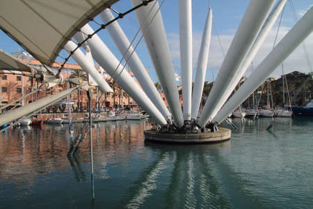 ancient port of Genoa: central structure Editorial