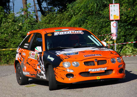 Rover Mg Zr 105 rally car during the rally Gulf of Poets 2017 Edition. Editorial