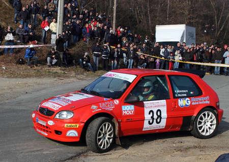 Citroen Saxo durante la Rally Liguria.