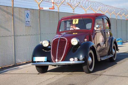 Historic Cars: Fiat Balilla Historical re-enactment of the uphill gra Redakční