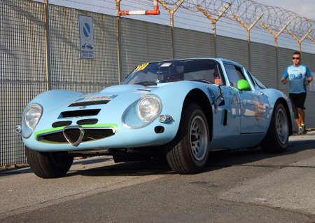 Historic Cars: Alfa Romeo GTZ Historical re-enactment of the uphill gra