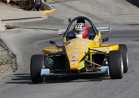 Formula three racing cars - Rising speed race Chiavari Leivi - Chiavari (Italy) 093009. Reading engaged during the race.