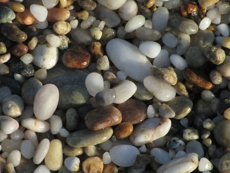 pebble in various colours, Tripiti beach, Thassos, Greece photo