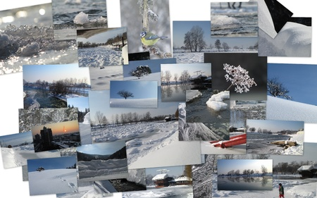 winter theme collage photo