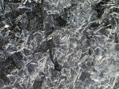 Beautiful frost texture and figures of cavalry in battle formed in ice Stock Photo - 15531774
