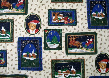 orientation: Holiday tablecloth background, horizontal orientation