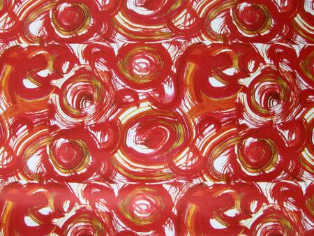 whorls: Red and white whorls on wrapping paper background, Holiday pattern  Stock Photo