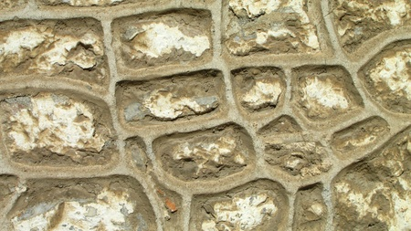 uncommon: Background of stone wall texture with uncommon grout lines