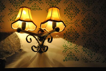 Old fashioned wall lamp photo