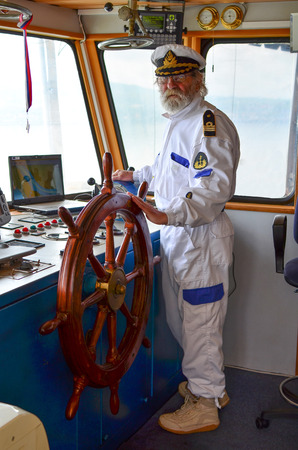 old ship captain: The master of the ship, old experienced captain in navigation cabine