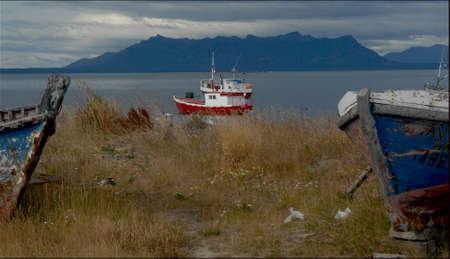 puerto natales: Puerto Natales Chile Stock Photo
