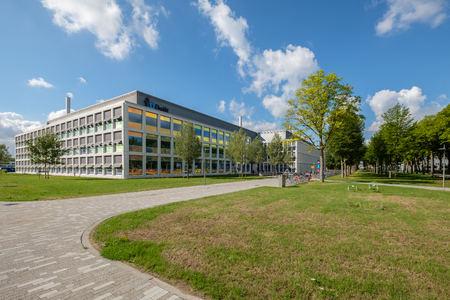 Colorful coated windows for the Applied Sciences of the Delft University of Technology, Netherlands.