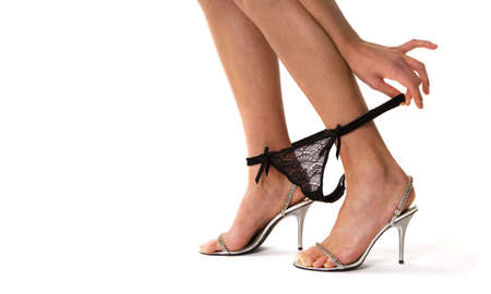 close-up of foot and tanga Stock Photo