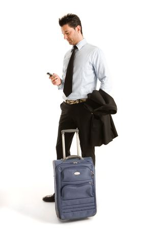 expects: Man who expects to leave for a business trip