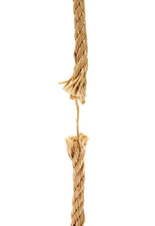 Brown broken rope concept image Stock Photo