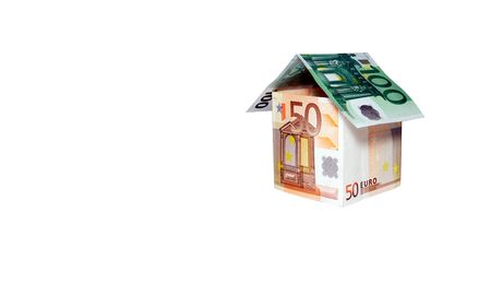 Concept image.  House made of  money photo