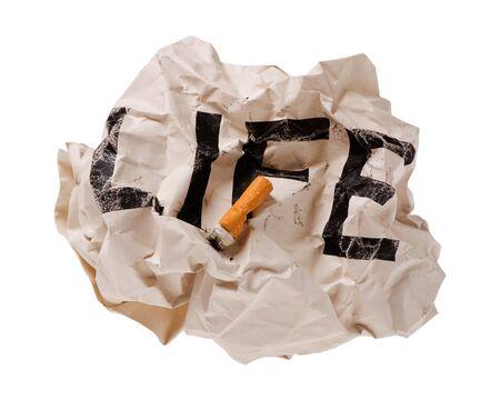 toner: Life and Cigarettes concept image Stock Photo