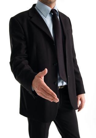 Businessman handshake close up  photo