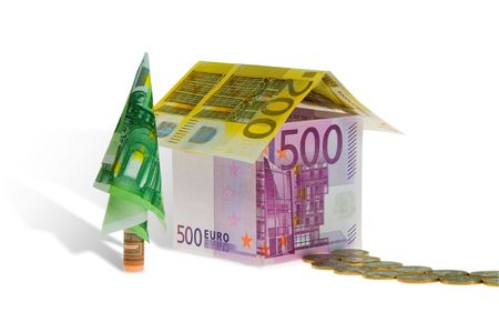 A house made of money. Conceptual image