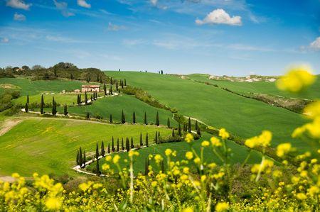 Landscape of Tuscany, Italy.