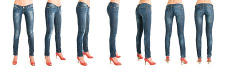 Breathtaking sequence of woman legs in rotation