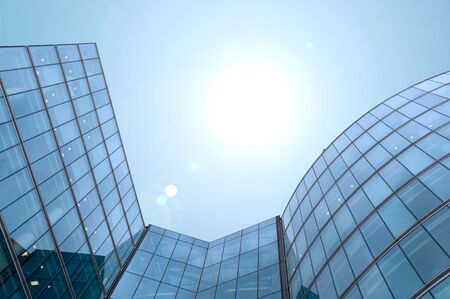Skyscraper building blue sky