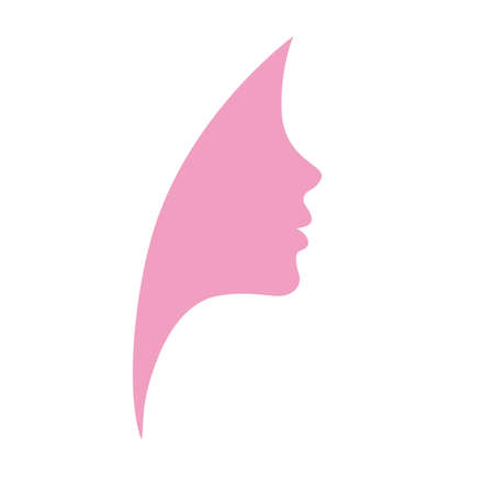 Beautiful profile young woman pink vector Stock Vector - 19027221
