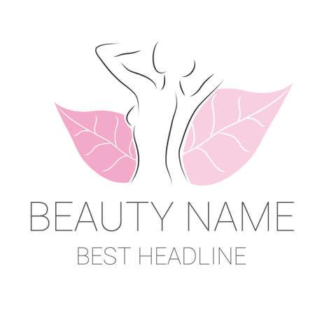 Illustration of  beauty beautician and massage