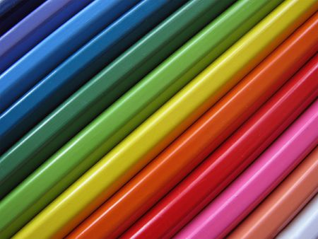 Background from colour pencils Stock Photo - 5585843