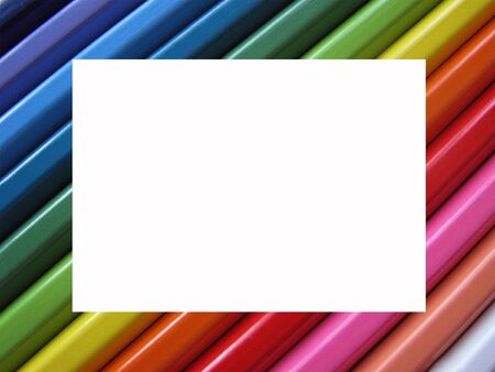 Frame from colour pencils                                photo