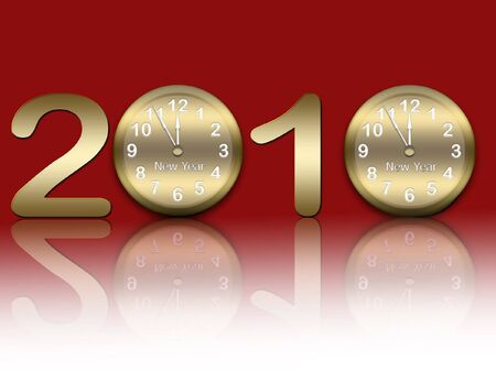 12 o'clock: New years background Stock Photo