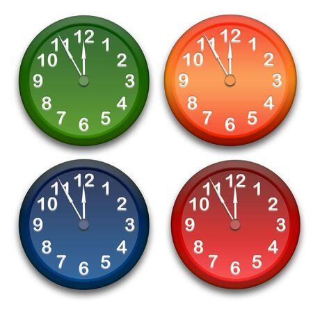o'clock: Clocks Stock Photo