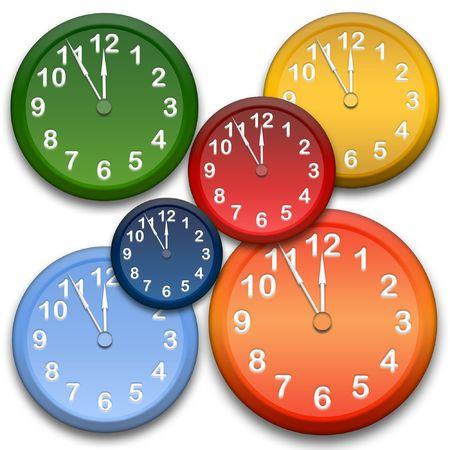 abstract alarm clock: Clocks Stock Photo
