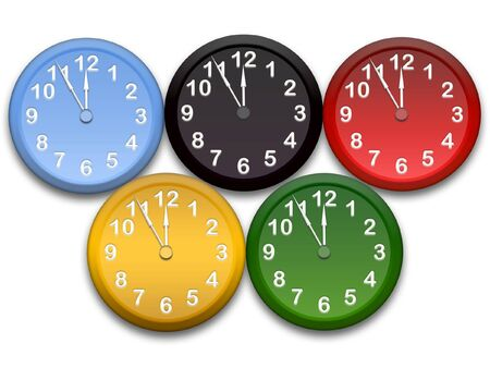 ciphers: sports competition clocks Stock Photo