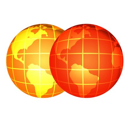 Two globes photo