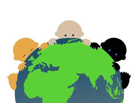 ni�os de diferentes razas: Beb�s multirraciales