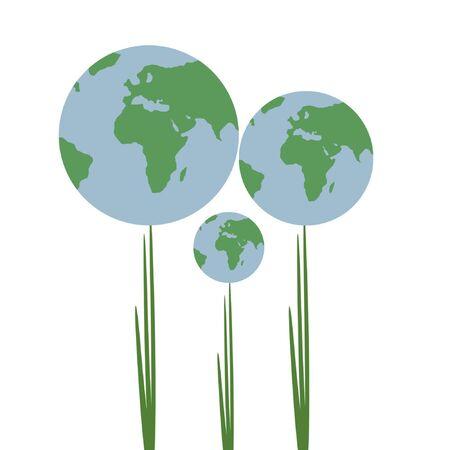 demografia: Familia abstracta de las plantas abstractas (globos)