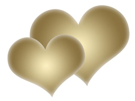 wallpapper: Two gold hearts