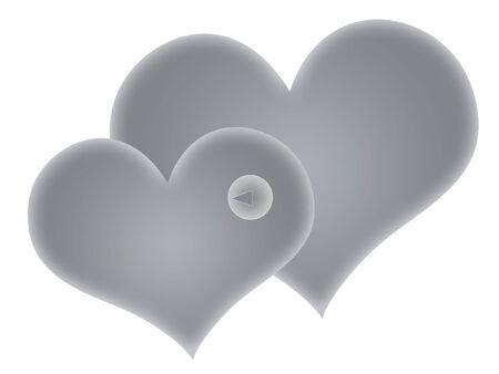 wallpapper: Two silver hearts
