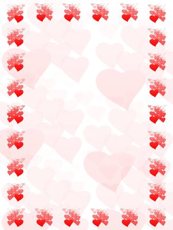 Valentines frame from hears Stock Photo - 6268667