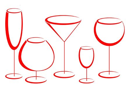 Glasses for alcohol drinks Stock Photo - 6354057