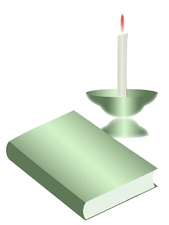 Book and candle photo