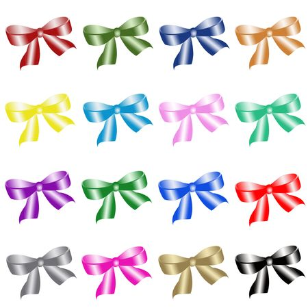 Colour bows photo