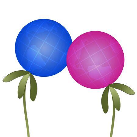 demografia: Abstractos de las plantas-globos