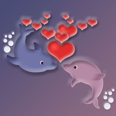 Love of dolphins photo