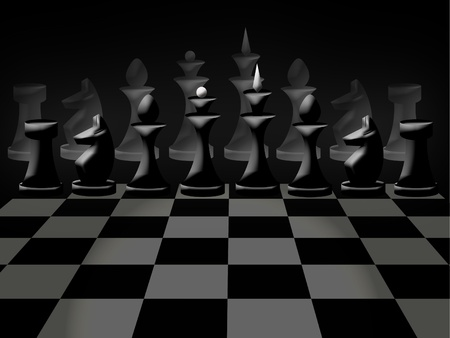 Chessmen on chessboard photo