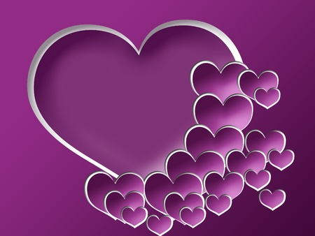 Valentines day card with hearts Imagens