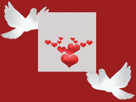 paloma caricatura: Tarjeta de invitaci�n de boda con palomas