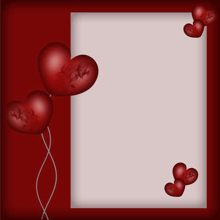 love photo: Valentines day card with hearts Stock Photo