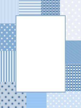 Blue photo frame photo